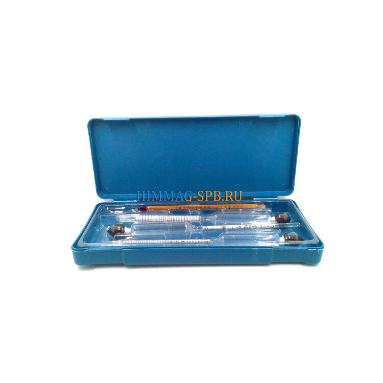 Набор ареометров и термометра