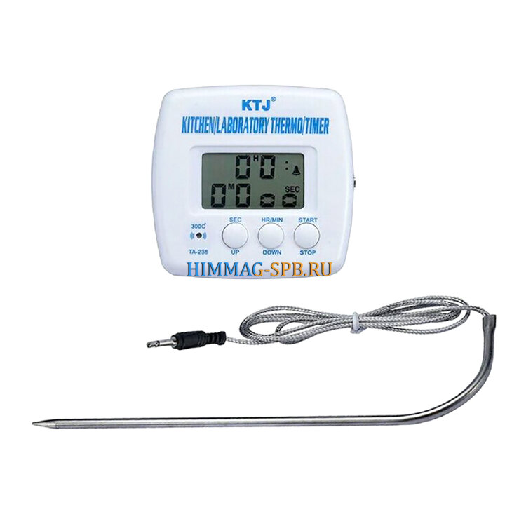 Термометр электронный, щуп с таймером