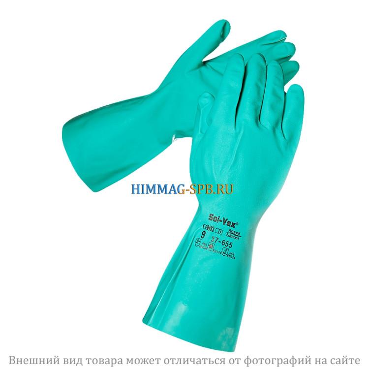 Перчатки SOL-VEX зеленые, плотные