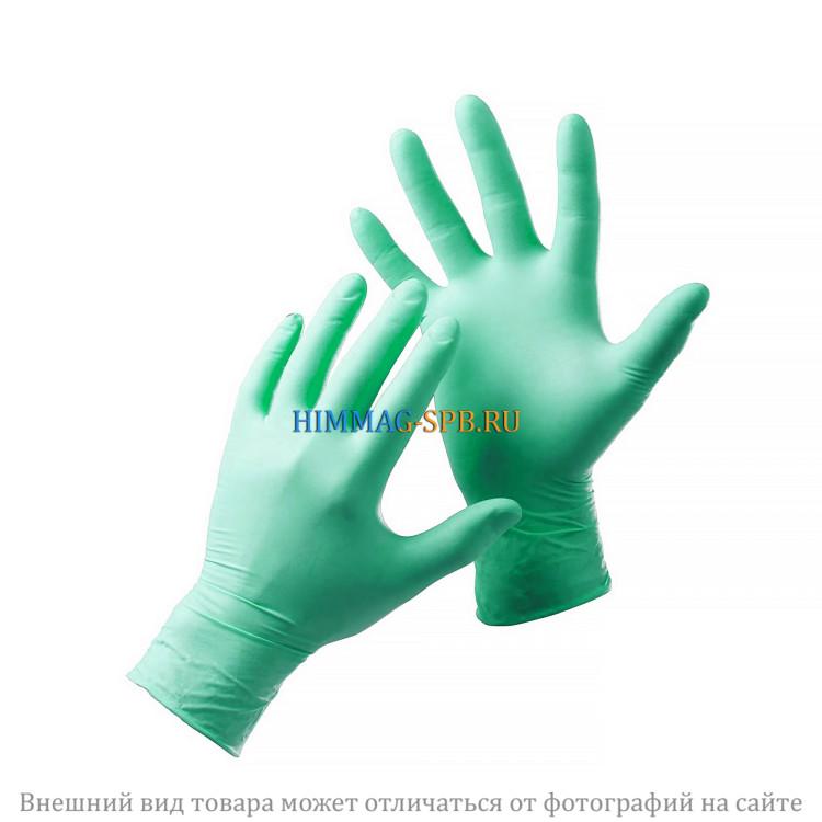 Нитриловые перчатки зеленые